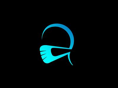mask logo icon modern brand emblem logo creative round branding logo design coronavirus corona covid-19 covid19 facelogo face mask logo mask