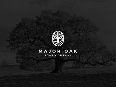 Major OAK flat logo minimalist logo oak leaf oak tree company name soap logo tree logo oak logo icon brand branding logo design