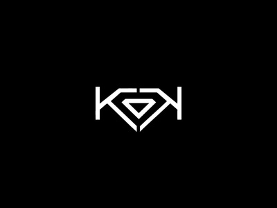 KK Diamond identity illustrator type 2019 trends 2019 minimal vector design animation logo modern brand flat icon typography logo design emblem logo creative round branding diamond kk