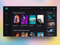 Movie rating website UI concept