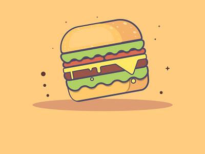 burger design icon fastfood illustrator burger