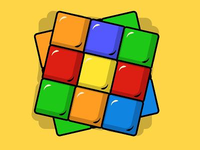 Rubik s cube red design illustration illustrator rubiks cube