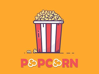 popcorn red fast food illustrator popcorn