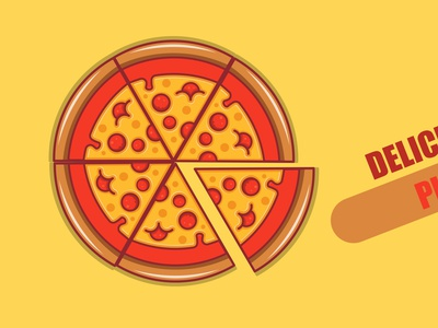 full pizza red pizza red pizza red vector fastfood design illustrator