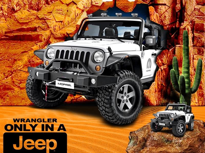 car breaks rock wall photo-manipulation wrangler jeepwrangler photo editing manipulation social media branding design jeep socialmedia social