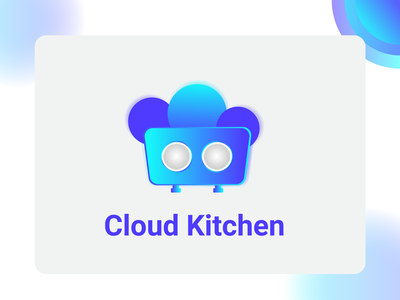 Cloud kitchen - illustration gradient cloud kitchen icon icon cloud logo clouds kitchen logo minimal illustraion cloud illustration kitchen cloud kitchen cloud