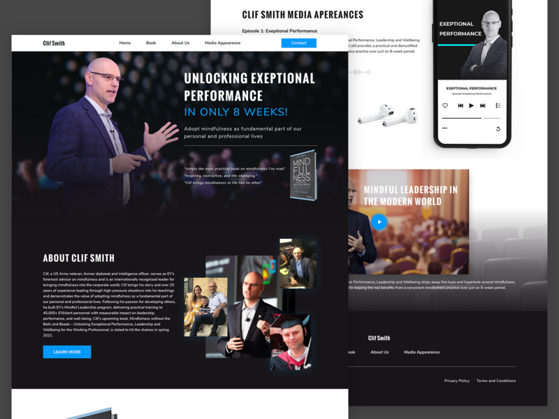 business man landing page web website web design ui uidesign uiux ui design typography minimal design