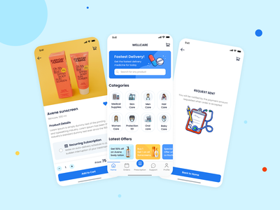 Pharmacy delivery app blue beauty ios icon iphone12 iphone pharmacy colors home health ui design ux uidesign illustration app uiux typography design ui minimal