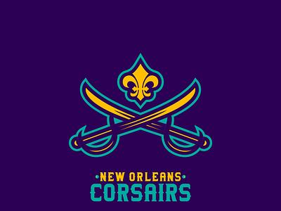 New Orleans Corsairs sportsbranding logo