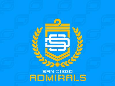 San Diego Admirals iaafproject design branding sportsbranding logo