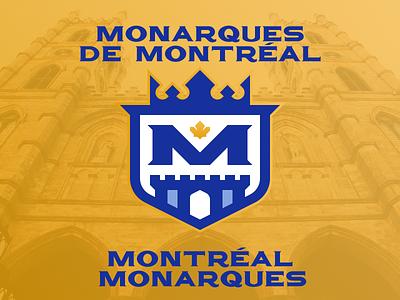 Montréal Monarques Updated nafaproject design branding sportsbranding logo