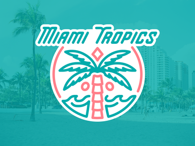 Miami Tropics nafaproject design branding sportsbranding logo