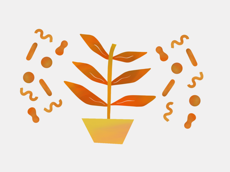 The Power of Plants orange plant color illustration design