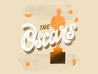 The Oscars geometry design vector brush lettering illustration