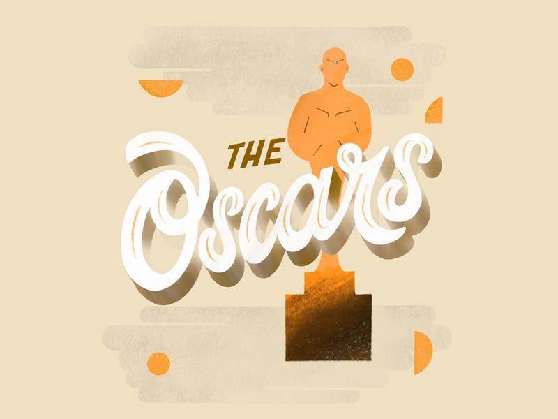 The Oscars geometry design vector brush lettering illustration