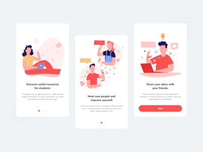 Onboarding Screens for Education App