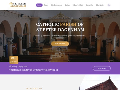 Church homepage Design