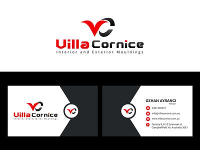 Villa Cornice Logo & Business Card