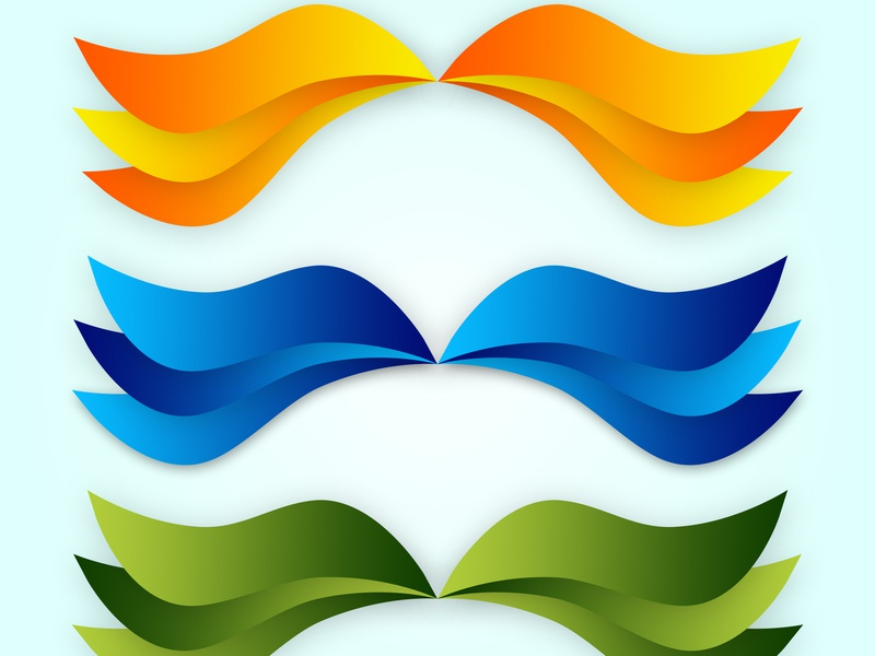 Colorfull wave icon logo vector illustration branding mockup typography web ui ux photoshop design