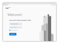University of Pittsburgh Organization Finder Login Page
