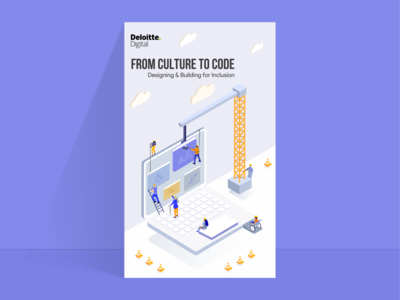 Isometric Poster for Deloitte Digital