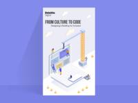 Isometric Poster for Deloitte Digital