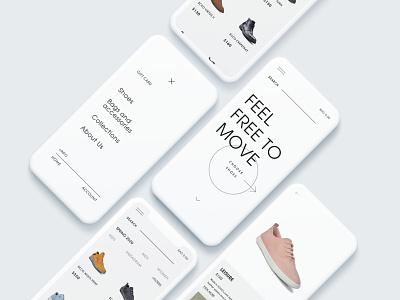 ECCO redesign #2 - Mobile version mobile design clear white redesign web uiux uxui uiuxdesign mobile ui mobile ux ui
