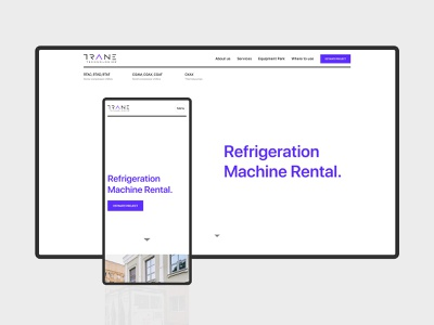 TRANE TECHNOLOGIES - Website Redesign trends webdesign actual new project park equipment machine refrigeration rental job work company redesign minimal manufacture website industry ux ui