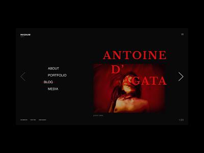 Magnum - Antoine d'agata ux ui dark red black antoine dagata magnum agency photograph design