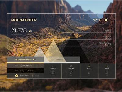 Mountainer climb ui interface uiinspiration uiuxdesign web mountain uiux ux ui