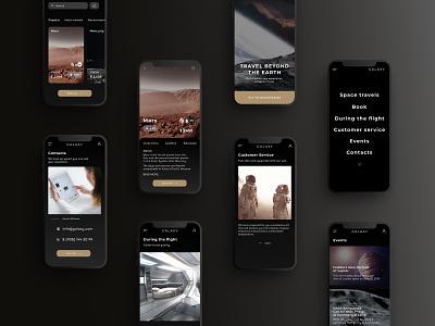 Space travel mobile app #1 order black website app dark app mobile dark tours travel space ux design ux ui uxui