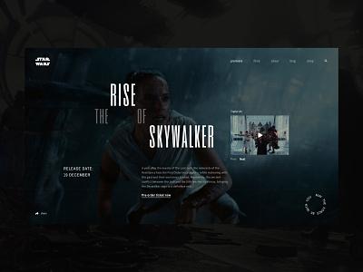 Home page - Star Wars: The Rise of Skywalker home web jedy starwars uiux movie cinema ux ui dark black