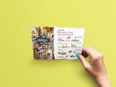 Cyprus Paradise Holiday 2019 cyprus tourist holiday tourism tour brochure illustration vector layout design
