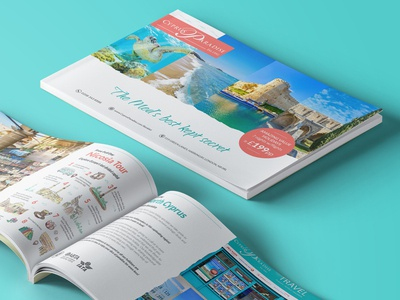 Cyprus Paradise Brochure  2018 holiday hotel tourism booklet creative brochure typography illustration branding vector layout design