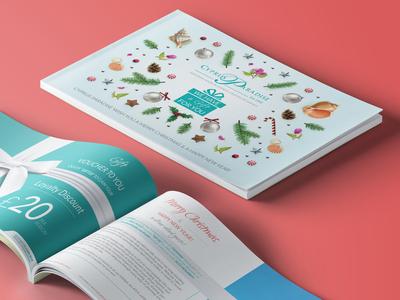 Cyprus Holiday Christmas Brochure 2018 tourism hotel holiday christmas brochure typography illustration branding vector layout design