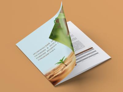 Report «Assessment of Water Sector in Turkmenistan» 2015 report undp brochure design photography brochure typography layout design