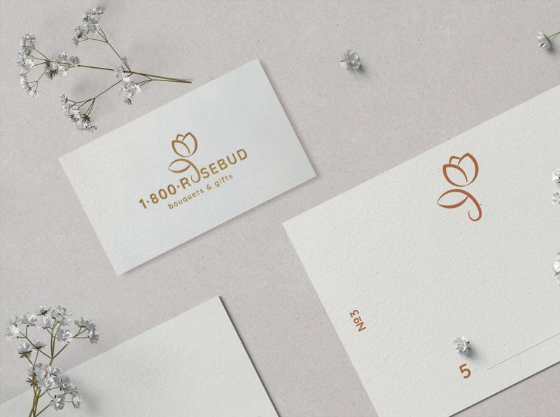 1-800 Rosebud rose logodesign creative logo illustration vector layout design