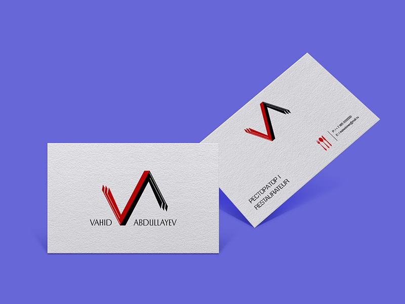V Personal Logo Cards businesscard personal logo personal brand vector logo design