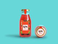 Label Design of Juice Bottle