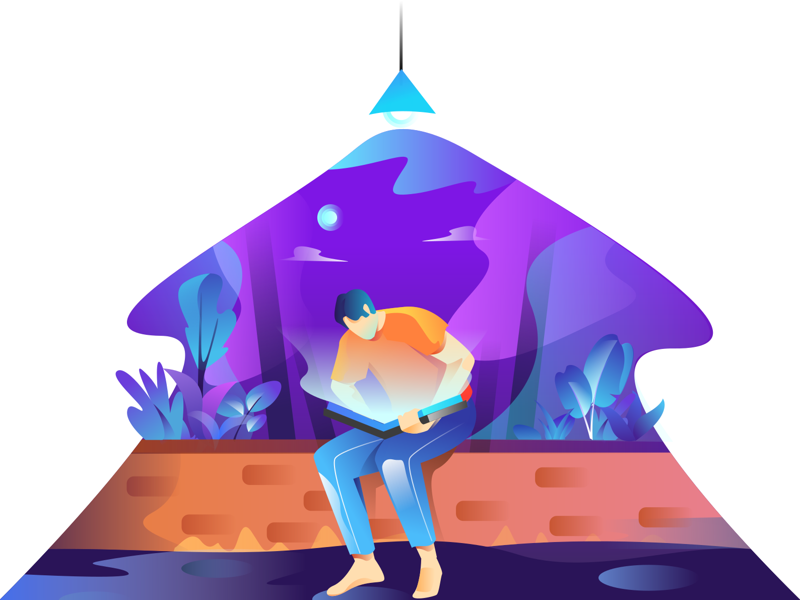 I dont know what the inside of this book night reading book icon gradient gradients ilustration illustration