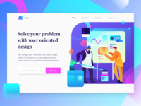 UI Designer Landing Page