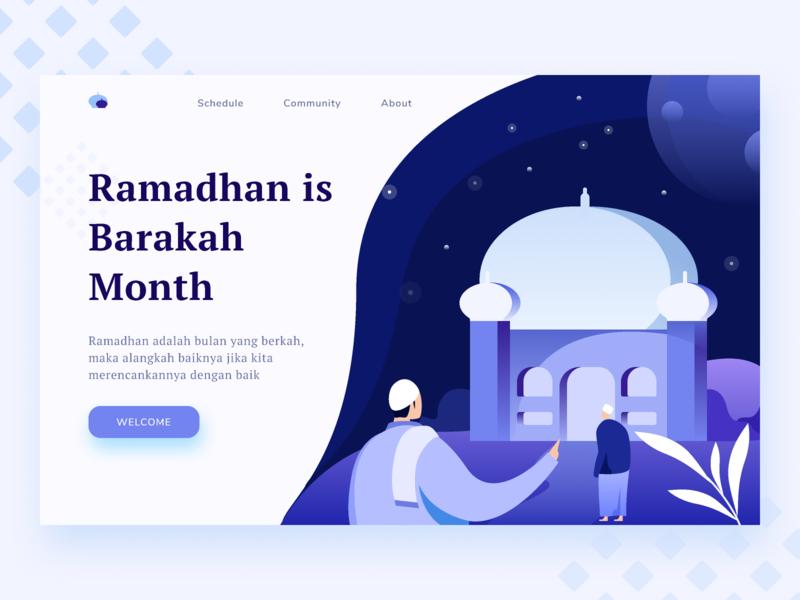 Ramadhan Landing Page Exploration web design homepage website building build landing page muslims illustration gradients muslim ramadhan