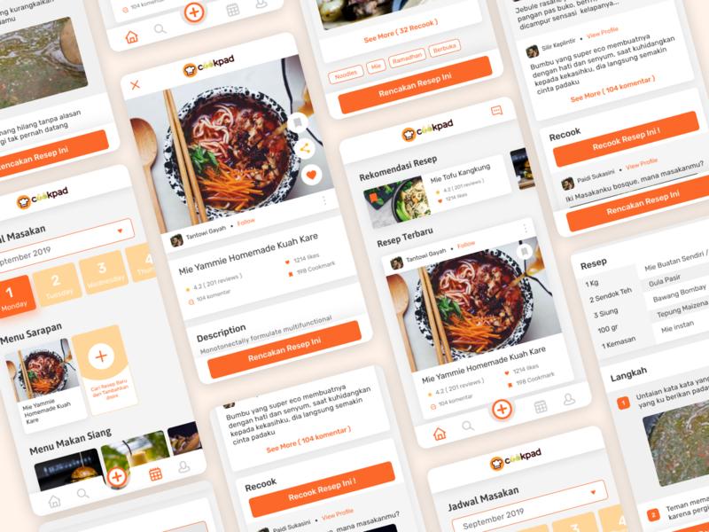 Cookpad Redesign Exploration recipe app recipe recipes calendar schedule android app receipts receipt restaurant food app food ios android ui