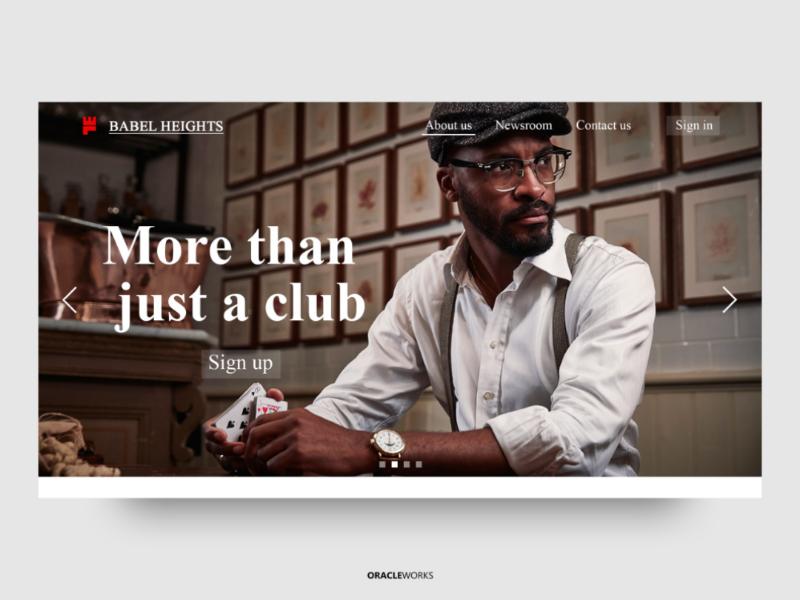 BABEL HEIGHTS design desktop flat concept creative business adobe typography branding web website ui