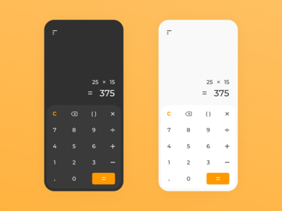Calculator design-DailyUI 004