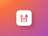 bus + pine trees - app icon