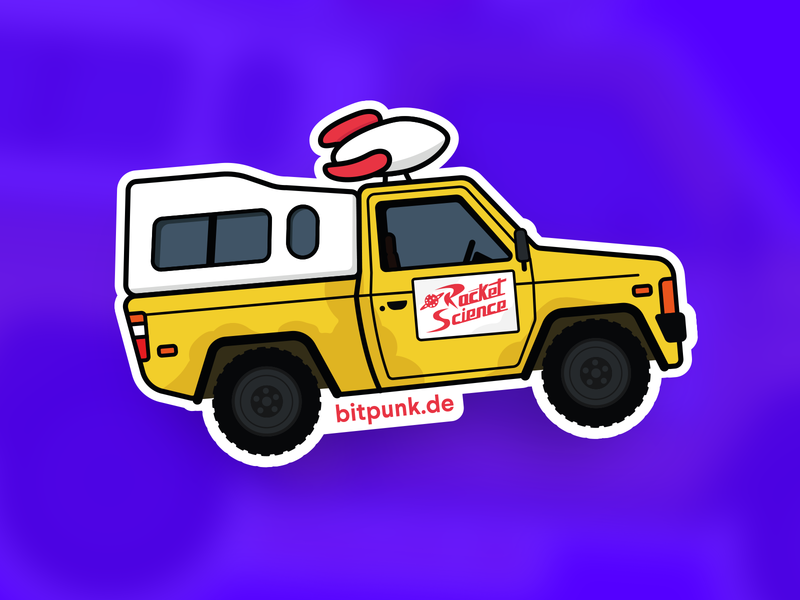 Toy Story - Pizza Car pizza rocket science sticker truck car design vector bitpunk illustration illustrator toy story