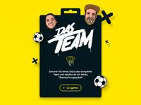 """Card Collection Game """"Das Team"""""""