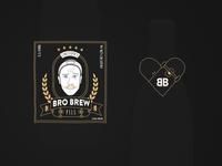 BRO BREW - Beer Label