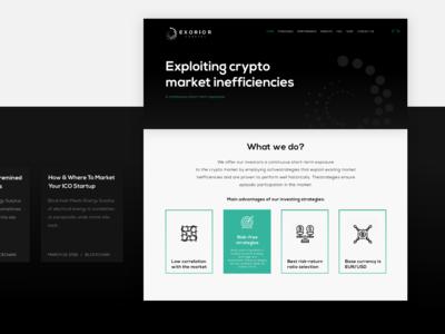 Exorior Capital - Landing Page
